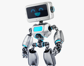 3D model Digital robotic retro bot