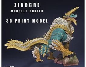 Zinogre - Jinouga - Monster Hunter - 3D Fan Art