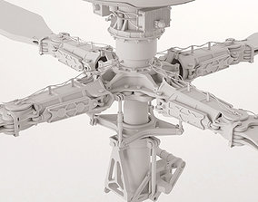 Apache Helicopter Rotor 3D