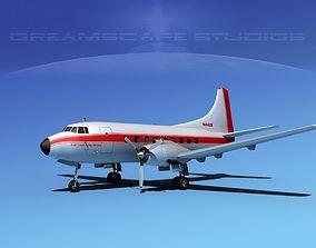 3D model Martin 202 East Coast Flying Service