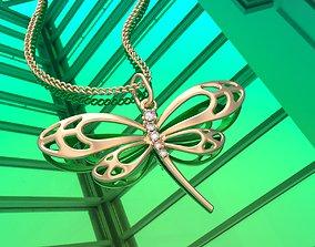 3D printable model Dragonfly pendant