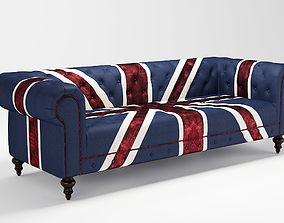 Union Jack 3 seater sofa ID 0007 3D model