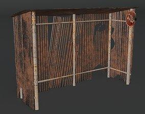 animated passenger cabin stall 3d model