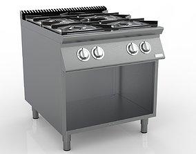 Gas Stove 3D kitchen