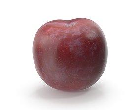 Realistic Plum Fruit raw 3D model