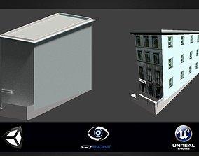 Brooklyn House Game ready bilding 3D model