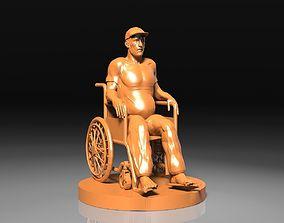 Man in Wheelchair 3D printable model
