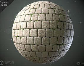 Cobblestones - Substance Designer Graph and 3D model 1