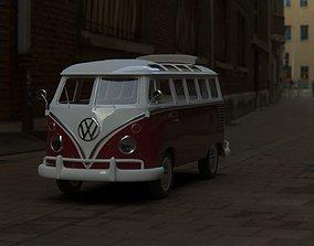 Wlksvagen Samba T1 Hippie 3D model low-poly