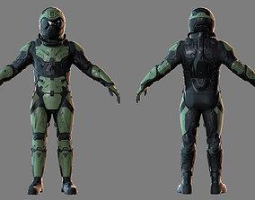 VX600 Sci-fi Soldier 3D asset