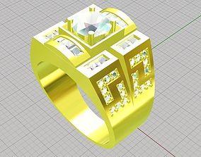 3D printable model Ring men diamond