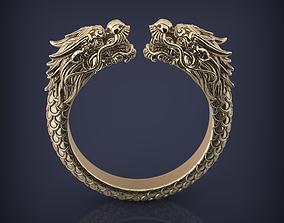 Snake Dragon Head Ring Jewelry 3d printable model 3D 1