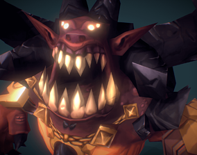 3D model Demon Lord - Low Poly Hand Painted