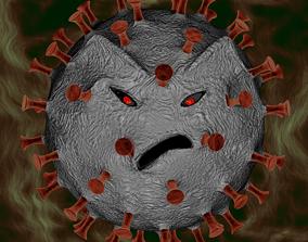Angry Coronavirus 3D