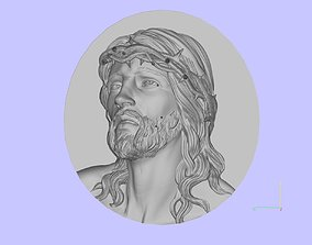 sculpture 3D print model jesus head
