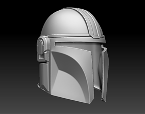 3D printable model The Mandalorian Helmet star