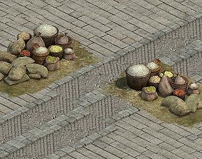 3D model Wangcheng stall - rice stalls