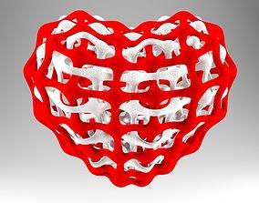 3D printable model Interlinked Heart