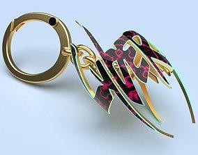 cyberpunk pendant keychain 3d print model