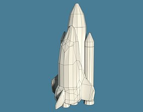 3D model Low Poly Cartoony Space Shuttle