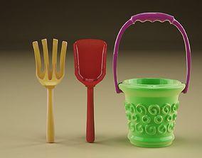 Pallet bucket and rake 3D print model