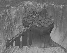 Temple in volcano 3D model