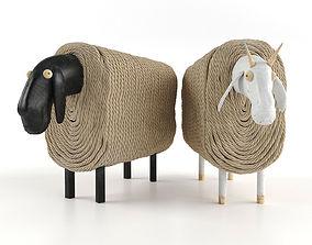 Vontree Sheep Sculpture 3D