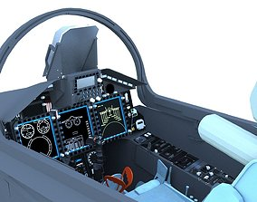 3D model MiG-29K Cockpit