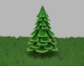 Stylized Pine Tree 3D asset