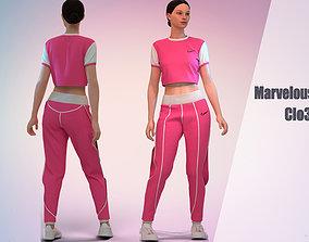 3D Pink tracksuit Marvelous Desunger