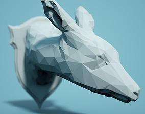 Low Poly Deer Head Model print