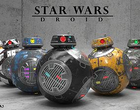 BB-9E Star Wars droid 3D asset