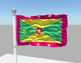 3D model Grenada flag