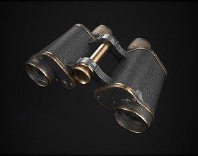 Old military binoculars 3D asset
