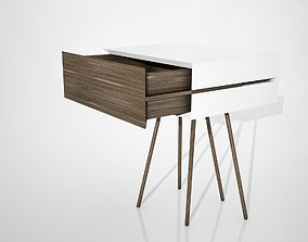 Bedside table with weird legs 3D model
