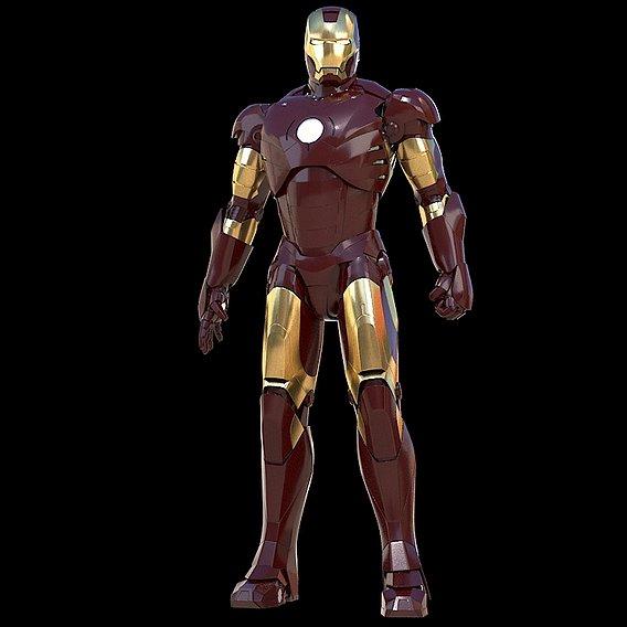 Iron Man Mark 3 Rigged Using Character Studio (Upcoming 3d Model)