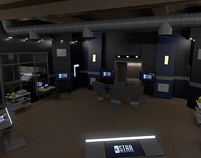 Cortex-Corridors-hall from STAR Labs 3D asset