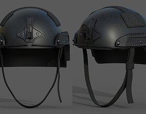 3D asset realtime Helmet military combat soldier armor