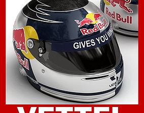 3D model Helmet F1 2009 Sebastian Vettel