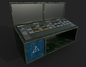3D model realtime Control Panel with Monitor