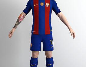 3D model low-poly Lionel Messi
