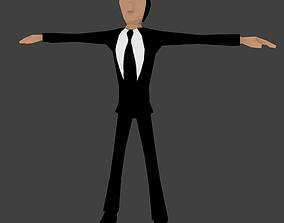 Lowpoly Animated Secret Agent 3D asset