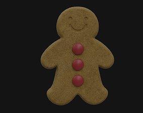 3D Gingerbread Man cookie