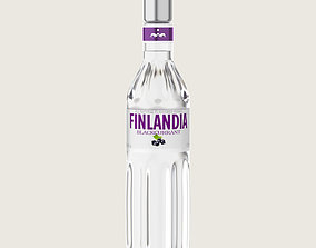 3D asset Finlandia Original Classic Blackcurrant Bottle 2
