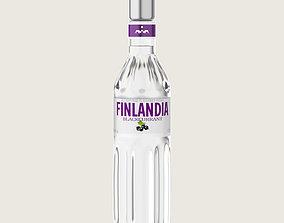 Finlandia Original Classic Blackcurrant Bottle 3D asset 2