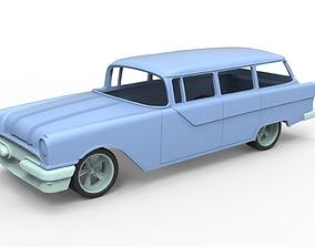 Diecast shell and wheels Oldschool car 3D print model 4
