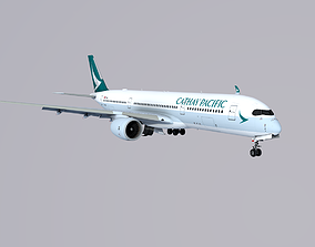3D asset A350-900 Cathay Pacific