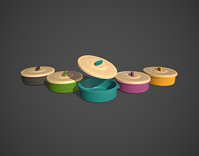 3D model VR / AR ready Plastic Food Storage Containers