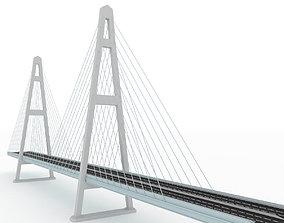 3D model Bridge Russian Stylized low poly