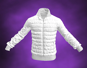3D Down Sweater White Jacket